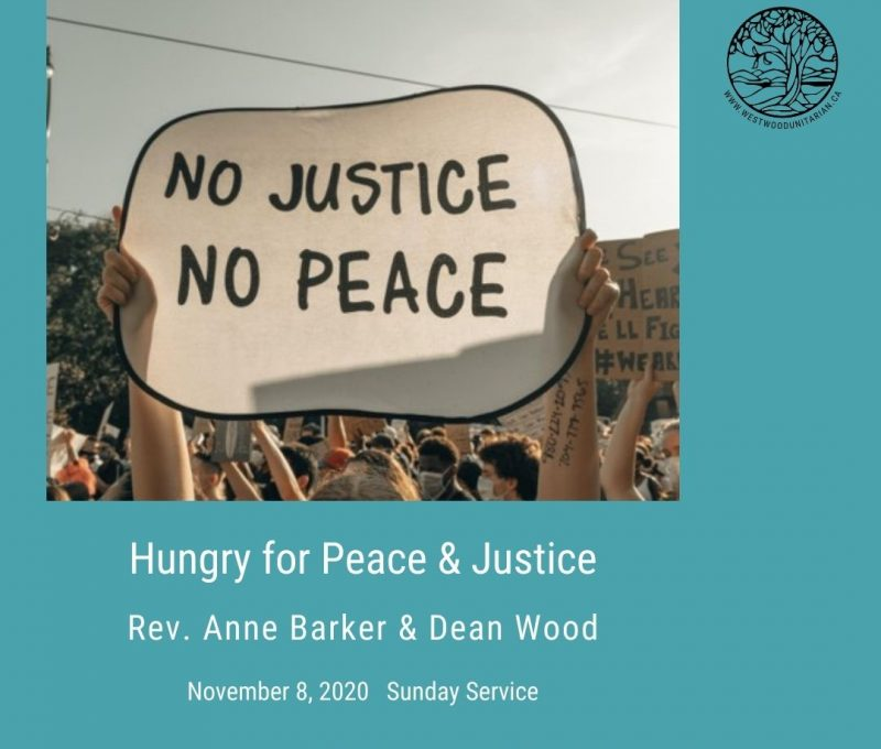 2020-11-08 Hungry For Peace & Justice 1080x1080