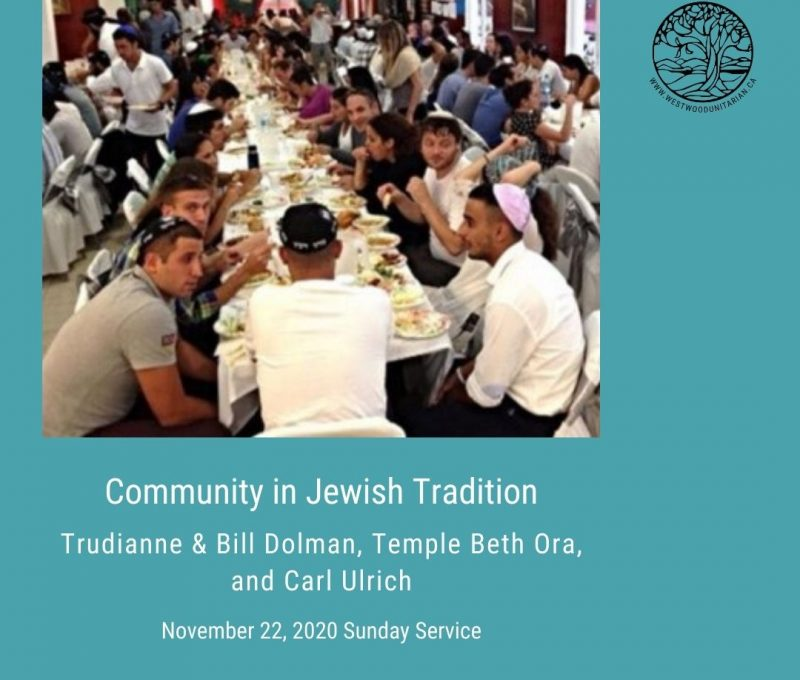 2020-11-22 Community in Jewish Tradition 1080x1080