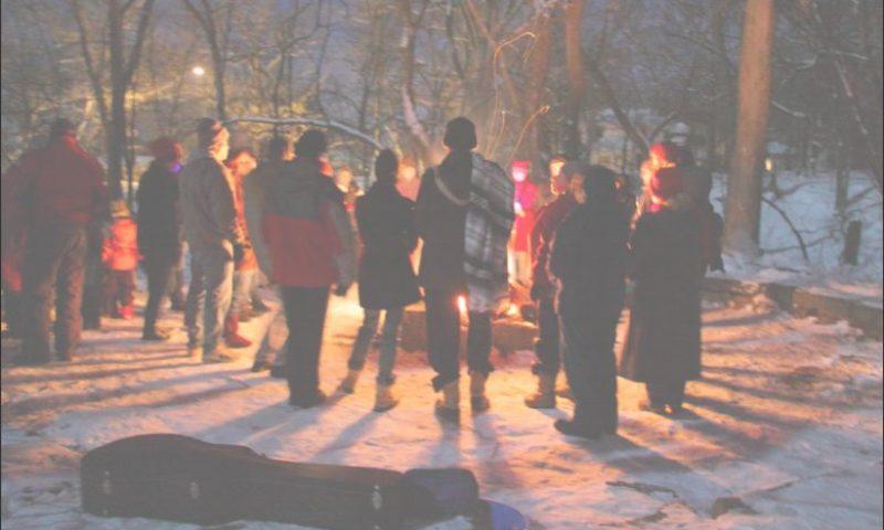 Winter Solstice bonfire